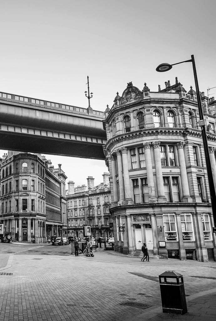 Newcastle city bridge downtown